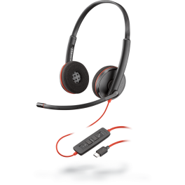 Poly Blackwire 3220 USB-C Corded Office Headset