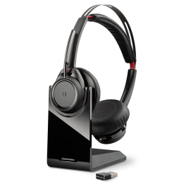 Poly Voyager Focus UC B825-M Microsoft Noise Cancelling Headset With Charging Stand